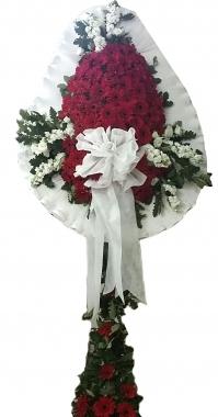 Çelenk 80 gerbera 10 adet beyaz çiçek