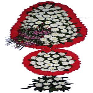 Üçlü Çelenk 2.5M 200 Çiçek