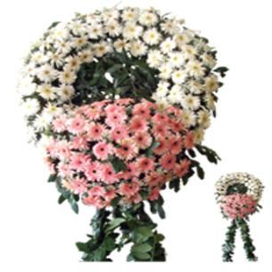 Çelenk Cenaze Çelengi 140 çiçek