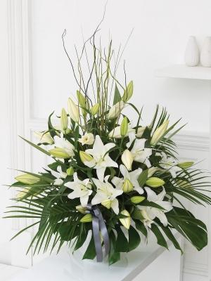 Beyaz Lilyum Çiçek Aranjman