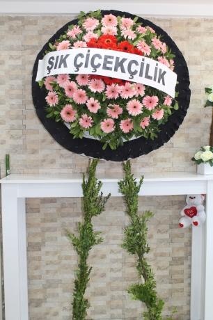 Çelenk Cenaze 80 Adet Çiçek