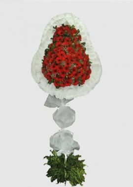 Kırmızı 80 Adet Gerbera Ayaklı Sepet