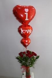 11 Gül Uçan Balon