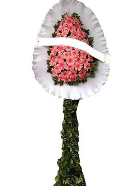 Tek Katlı Pembe Duvak 80 Adet Çiçek