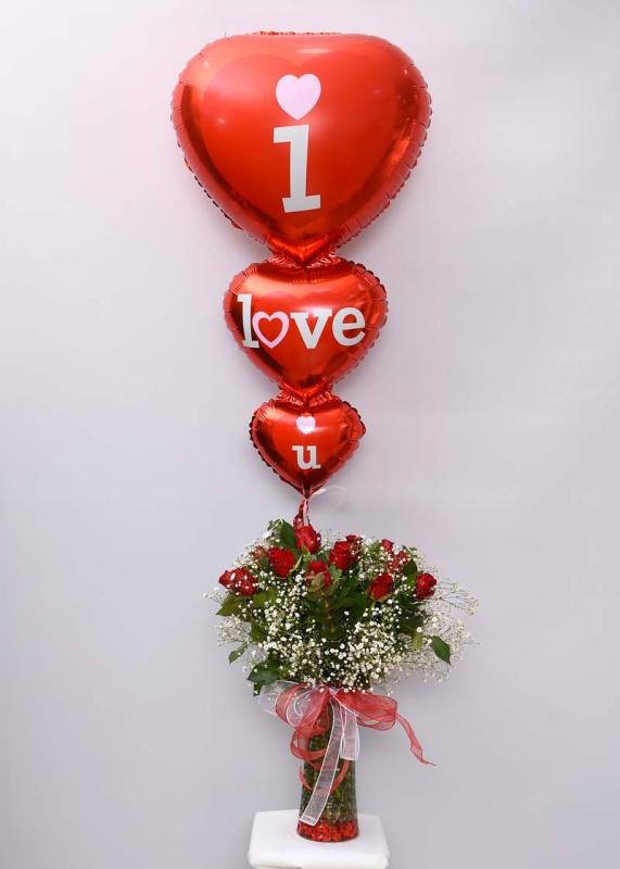 Uçan Balon ve 11 Kırmızı Güller