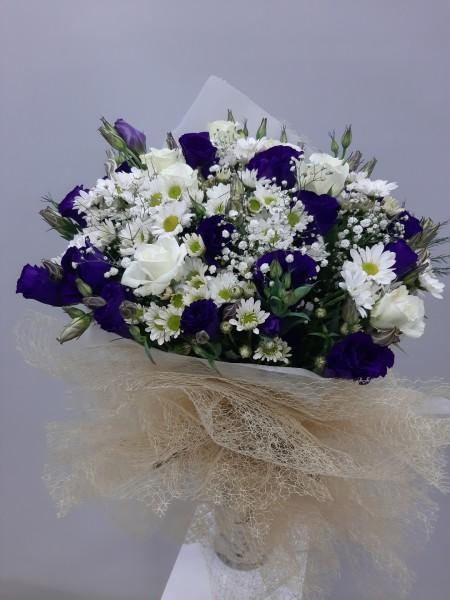 Mor Çiçek Buketi