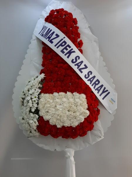 İzmir Çelenk Kırmızı Beyaz