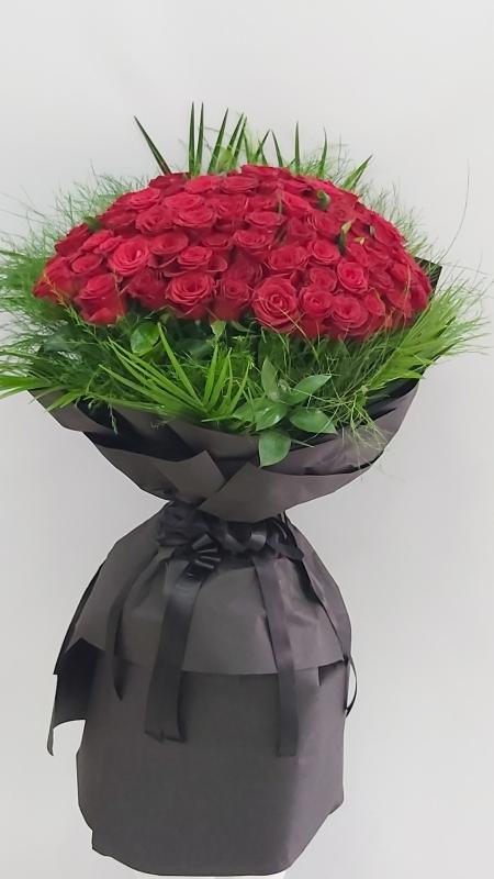 101 Kırmızı Gül Buketi İsteme Çiçeği