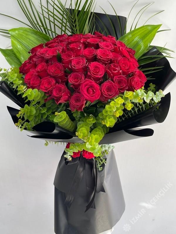 41 Kırmızı Gül Buketi İsteme Çiçeği